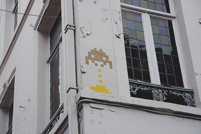 Space Invaders en Bruselas