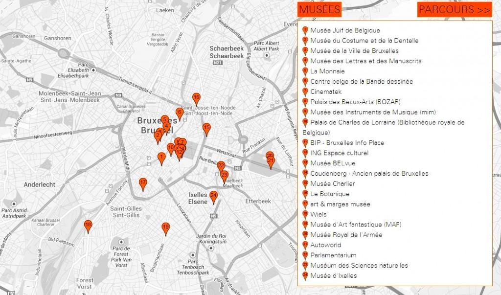 Museum Night Fever Mapa