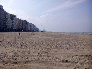 Vista de la playa de Ostende. El problema es que no siempre tenemos este buen tiempo