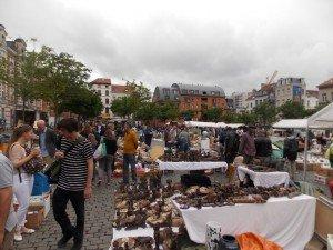 El mercado de antigüedades de Les Marolles