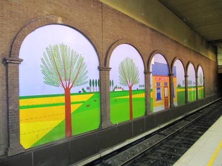 Las estaciones de metro de Bruselas: una galería de arte abierta