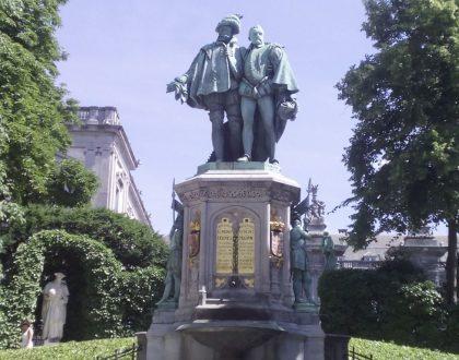 "Condes de Egmont y de Hornes, ""héroes belgas"""
