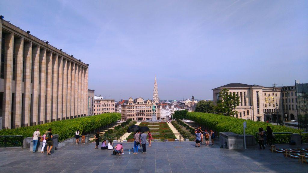 rutas ciclistas por bruselas (i) - Mont des Arts - Rutas ciclistas por Bruselas (I)