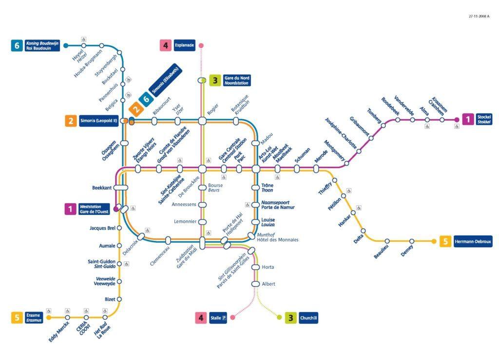 El Transporte Publico En Bruselas Turismo En Flandes Belgica