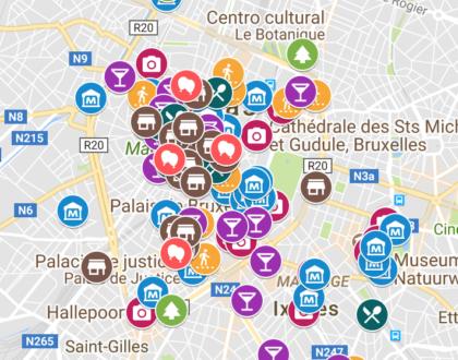 Mi mapa de Erasmus en Flandes