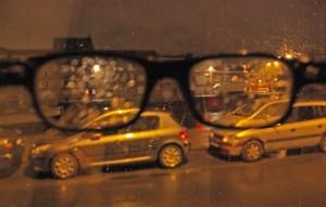 Ver las calles de Gante a través de gotas de agua. Al final te acostumbras.