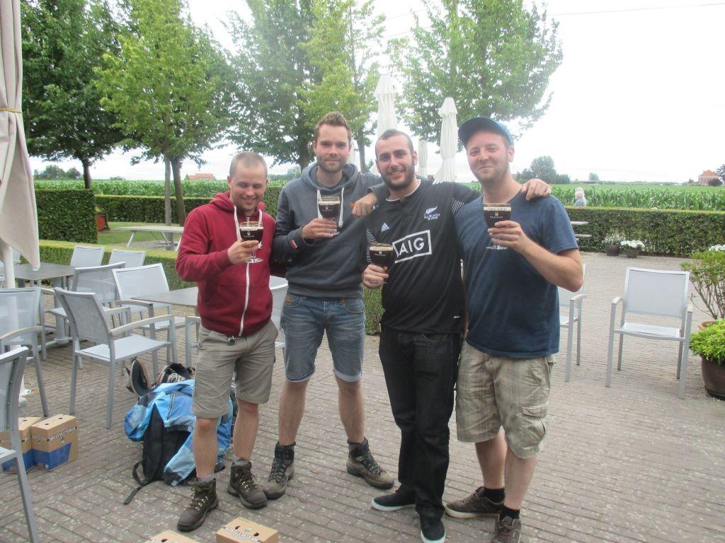 Mis nuevos amigos belgas y yo