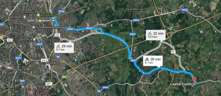 ruta al castillo de laarne - Captura de pantalla 2017 05 21 a las 23 - Ruta al Castillo de Laarne