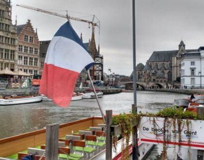 Paseando en barco por los canales de Gante