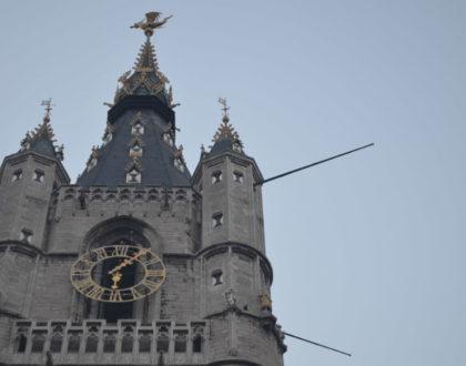 El dragón en el campanario de Gante