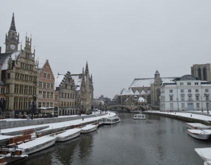 ¡Primera nevada del año en Gante!