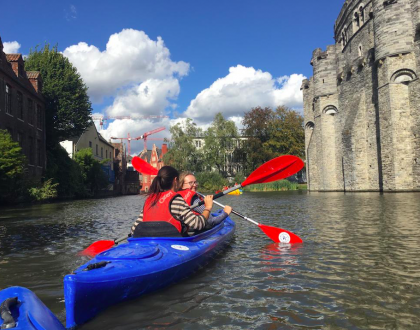 Navegar Gante en kayak