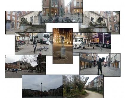Acompañantes esculturales en la ciudad de Lovaina