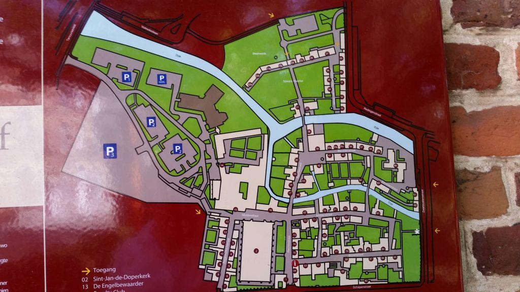 Groot Begijnhof mapa Los Beguinajes de Lovaina - Groot Begijnhof mapa - Los Beguinajes de Lovaina