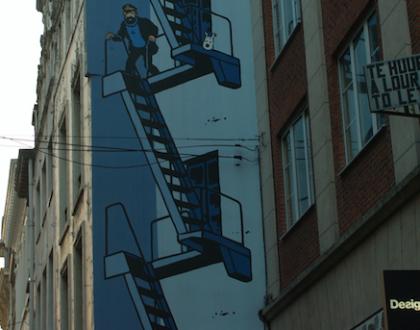 Caminando con Tintín por Bruselas