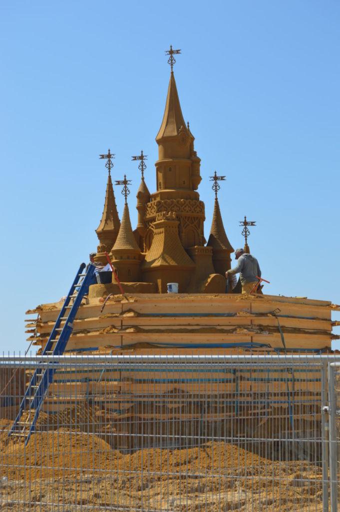Construcción del castillo de la Bella durmiente