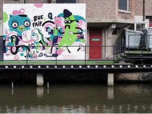 Monstruitos invaden Gante - graffiti 1 300x226 - Monstruitos invaden Gante